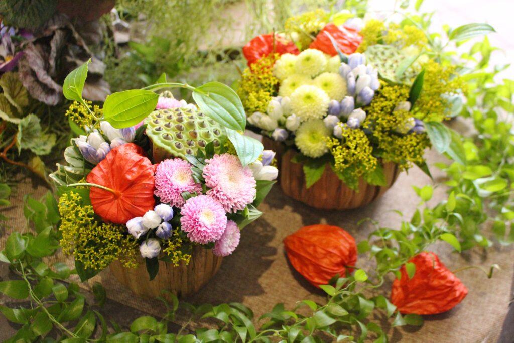 お盆花の特設販売