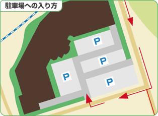 フォレオ大津一里山 駐車場への入り方